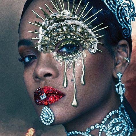 Pat McGrath's Lust 004 Kit on Rihanna for W Magazine.
