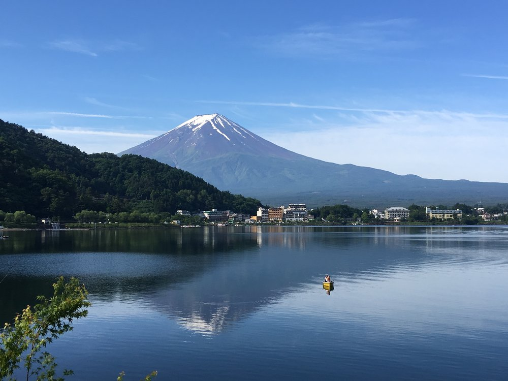 View of Mt Fuji from Fujikawacho. Credit: Angie Davis.