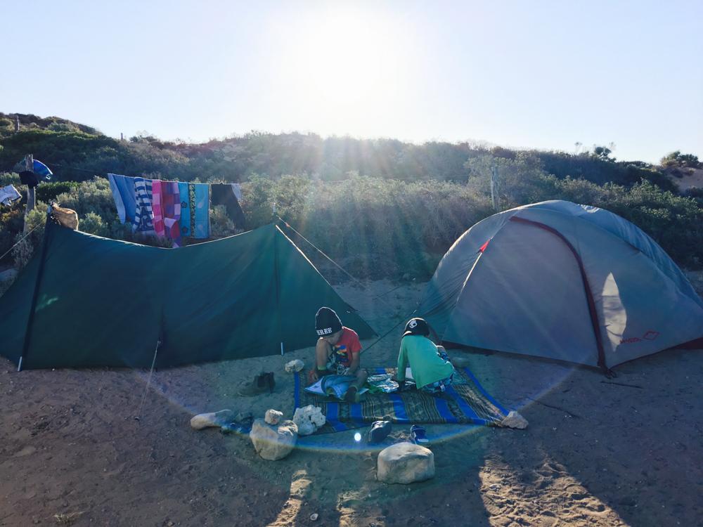 Tent life at Catcus