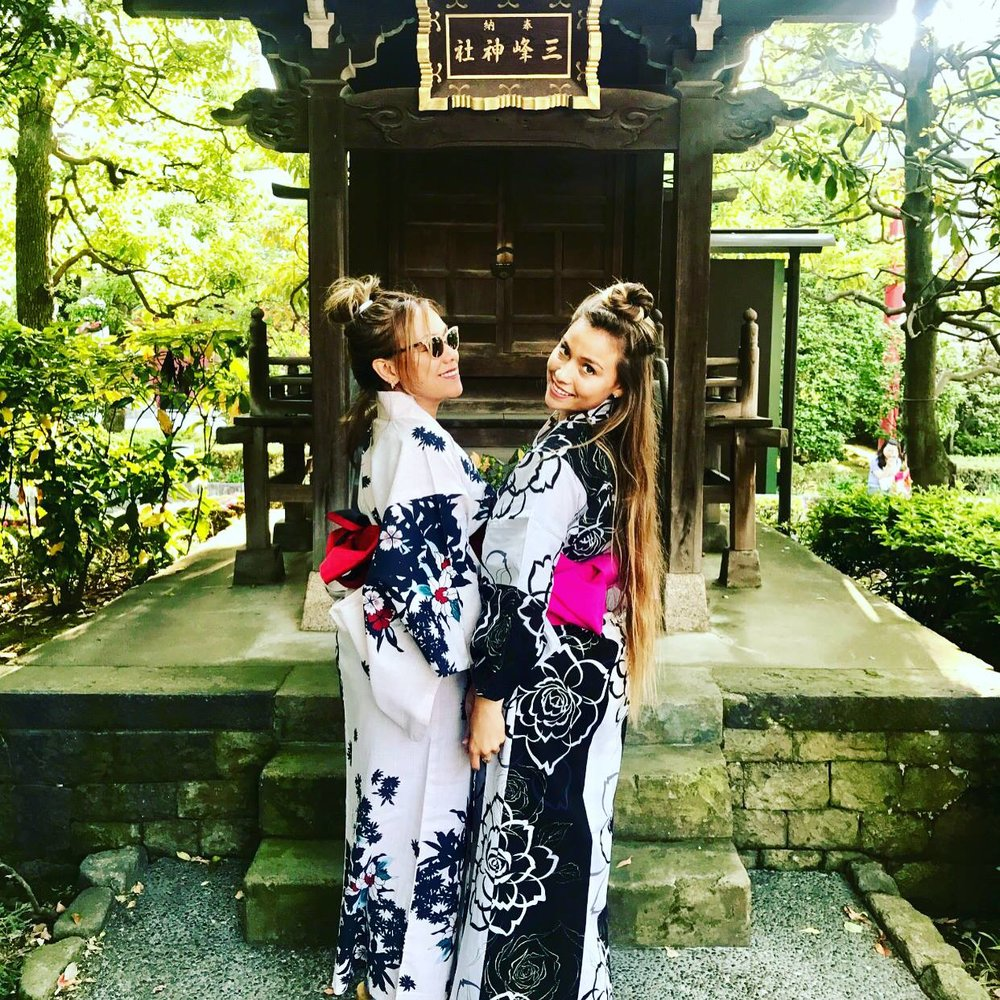 Sina and Tia in Japan.