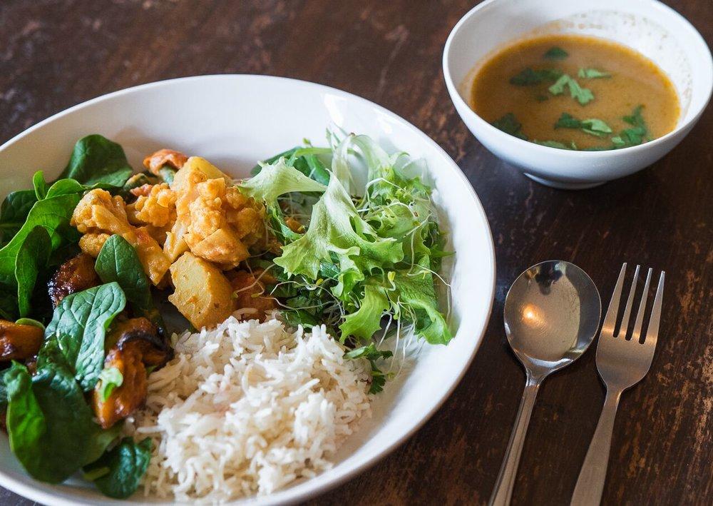 Lunch at Govinda Valley