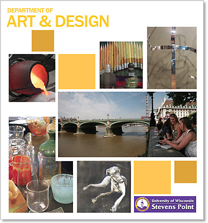UW-Stevens Point Dept. of Art & Design. 1998-2013     |    Full Professor (tenured) in NASAD accredited program with 350 students.  Instruction for all levels and media in BFA graphic design program. Lead curriculum development and budget for graphic design area. Academic advising for 20 students each semester.  Leadership in scholarship awards and committees.