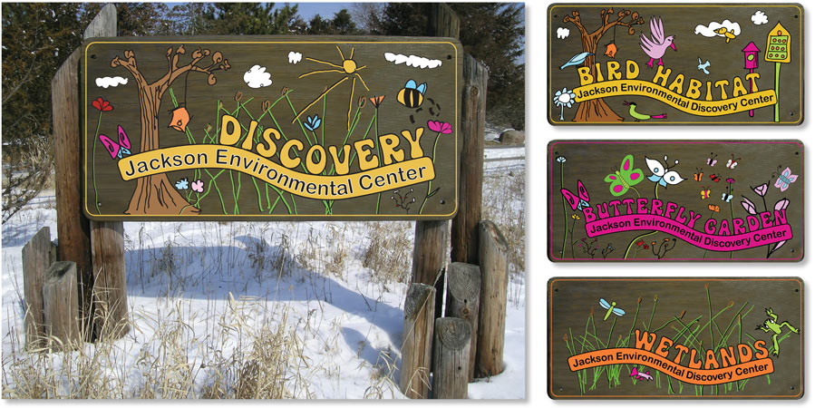 Jackson School Environmental Signage    |    Art direction and design - illustrations created by Jackson School kids