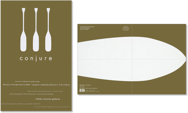 Conjure Arts Exhibition Poster     |    Design and illustration for poster/mailer