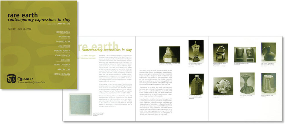 Rare Earth Museum Exhibition Brochure    |    Design and art direction for 3-panel brochure