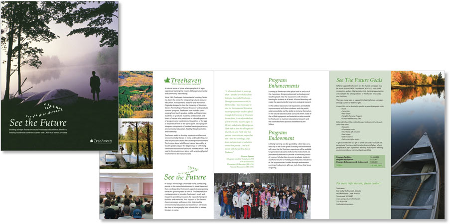 Treehaven Promotion Brochure     |    Art direction and design for 3-panel brochure