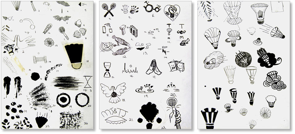 Student Process Work    |    Introductory Symbols for Graphic Design    |    Process and thumbnail sketches for project to develop symbolic representation of objects and meaning