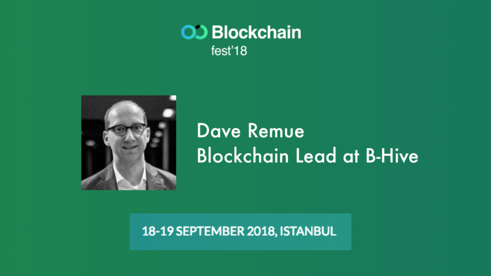 Our Blockchain Lead, Dave Remue, will be speaking at this event.