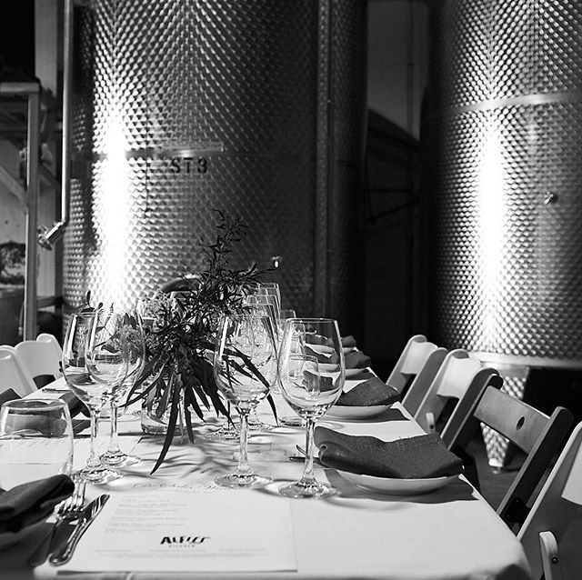 Last weeks table settings @desaliswines  #wetweatherplan  #inthewinery  #veganinthevines
