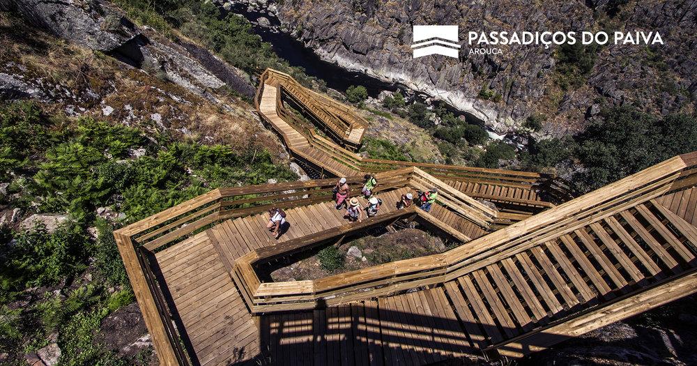 """派瓦人行桥(Passadiços do Paiva)因其独特的构造获得了""""欧洲最佳创新项目"""""""