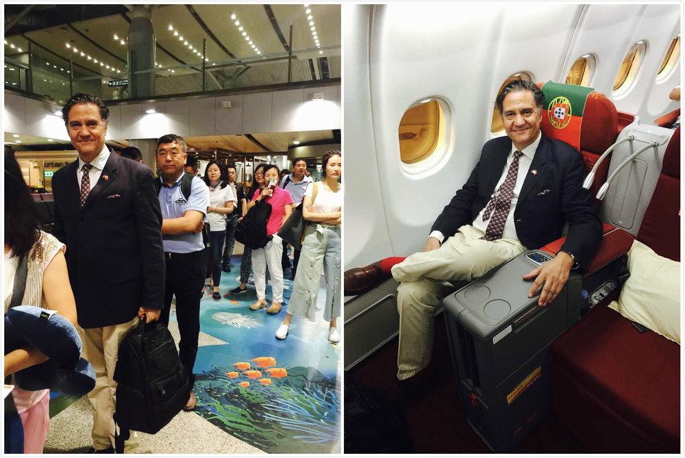 作为首航的第一波乘客是种怎样的感受呢?葡萄牙驻华大使若热·托雷斯-佩雷拉亲测航班体验。
