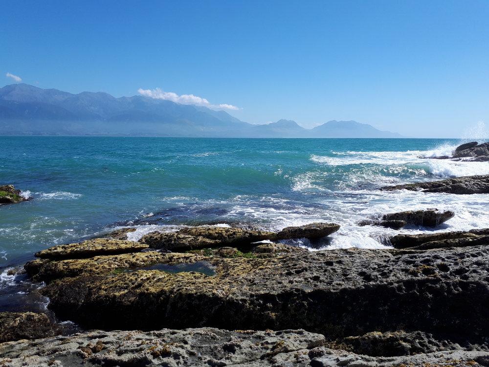 Océan à Kaikoura (Nouvelle-Zélande)