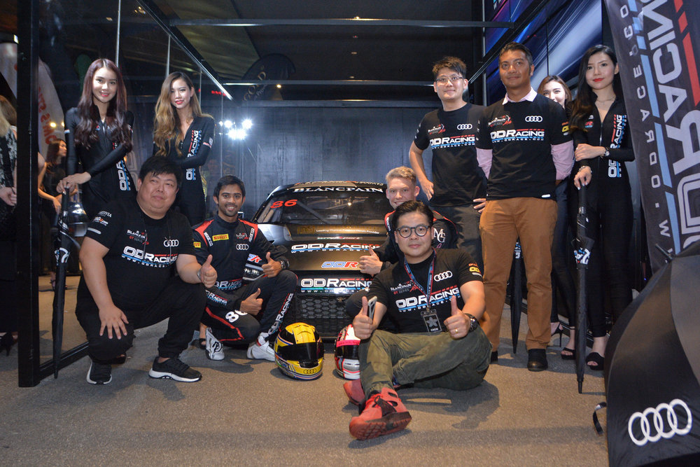 Aditya Patel with the OD Racing Team