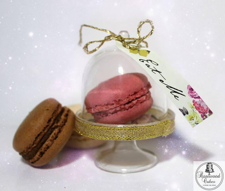 Macaron Wedding Favour - Rosewood Cakes Luxury Wedding Cakes Glasgow Scotland