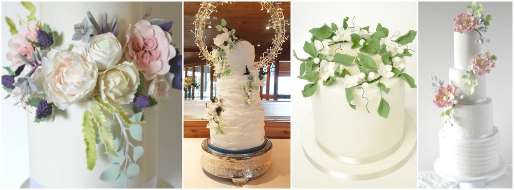 elegant and rustic wedding styles - rosewood cakes