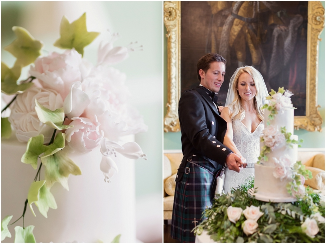 Photo by  Craig & Eva Sanders  at  Kinross House   organised by  Premier Wedding Planners   Fresh flower base by  Mood Flowers