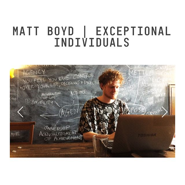 If you haven't already go listen to our interview with matt boyd!@exceptional_individuals  Link in bio!