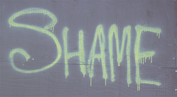 Figure 5 – Shame graffiti