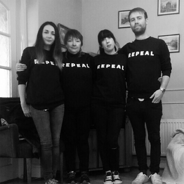 Figure 6 – Me and my family before the march for choice 2017