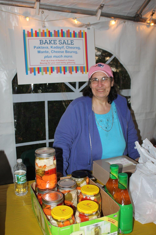 Vendor at the Armenian Memorial Church food festival.