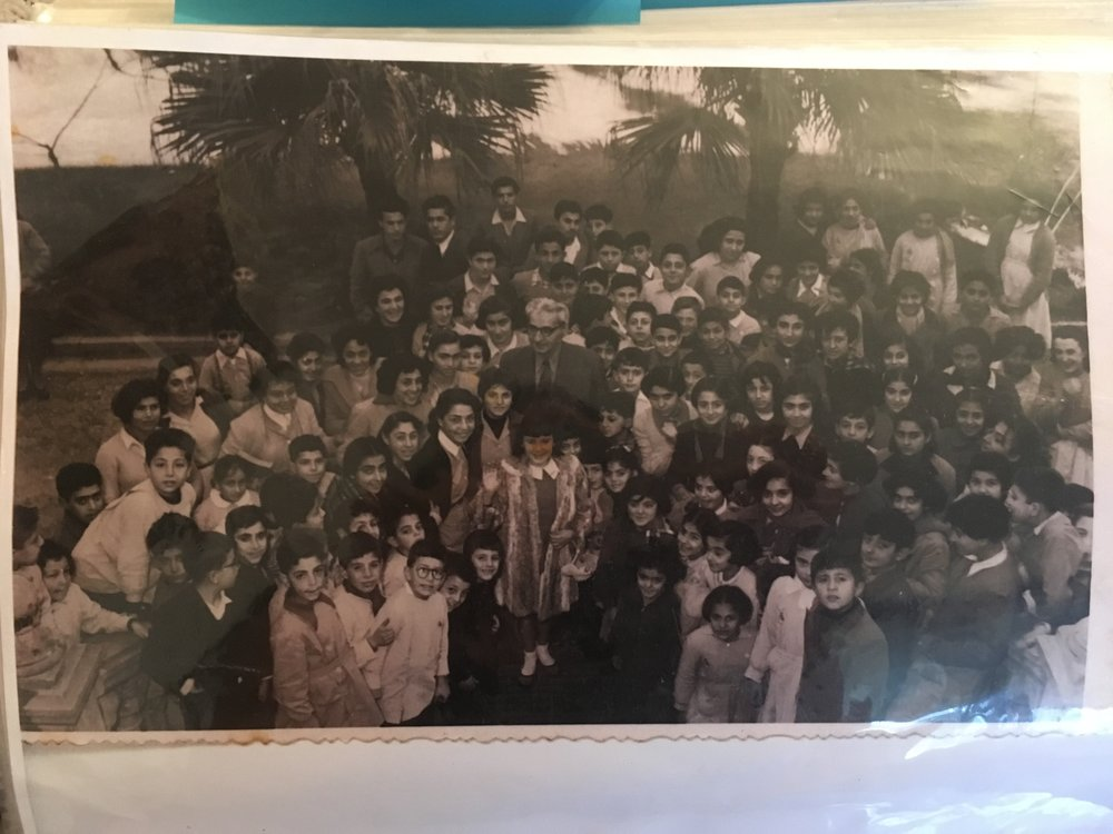 Shake Hovagimian with her classmates at Djemaran in Beirut.JPG