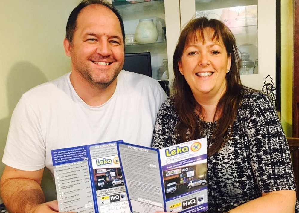 Mr & Mrs Short of Cheshunt, Hertfordshire are delighted with their EasyCarCare Promotion