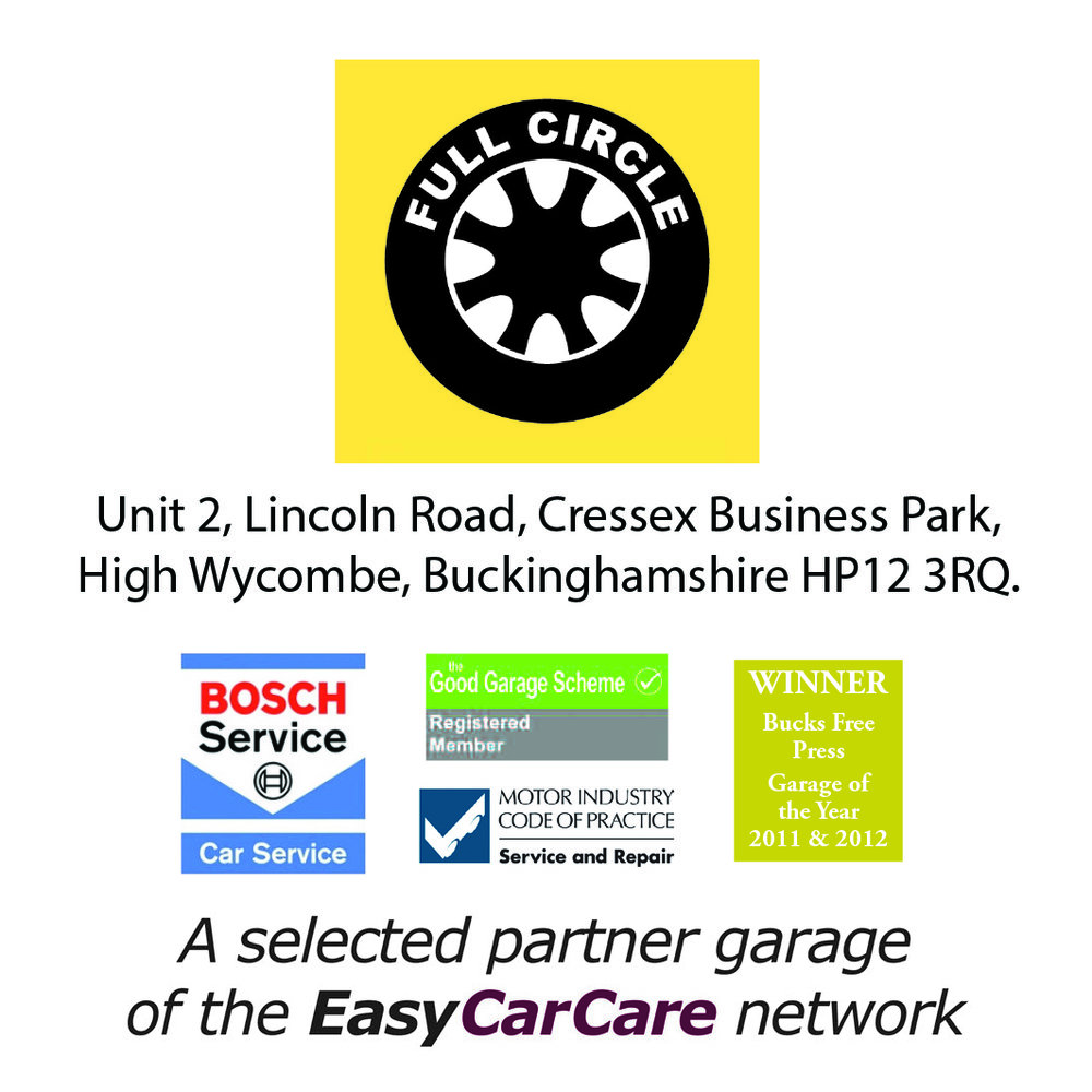 Full Circle is proud to be a selected Partner Garage of the EasyCarCare Network
