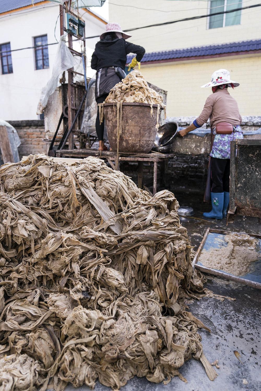 paper bark pulp manzhao china