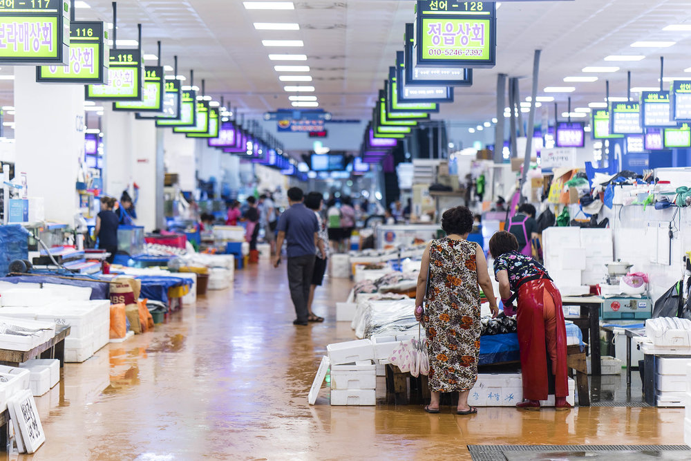new noryangjin fish market