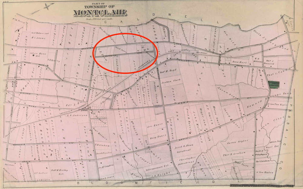 1881 Map of Montclair