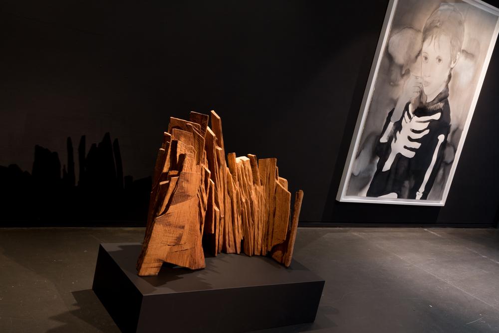 Oeuvres: Eric Sansonnens et Françoise Pétrovitch