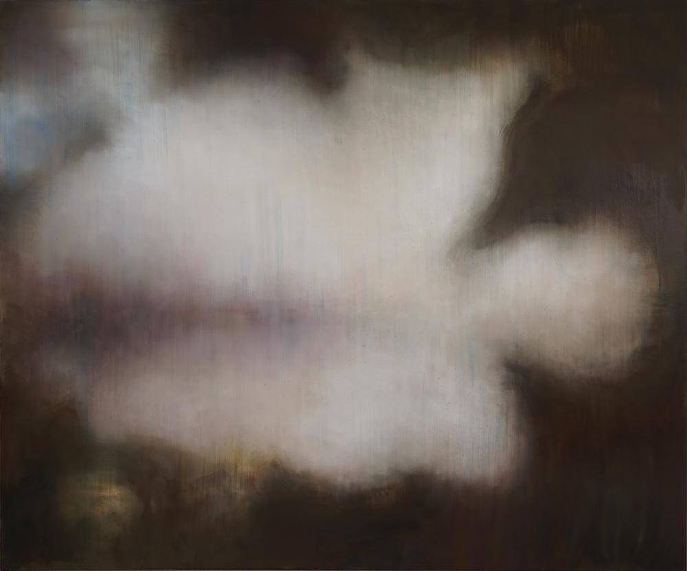 """Guy Oberson, """"Une pluie au milieu de la brûlure"""", huile sur toile, 240 x 200 cm, 2016"""