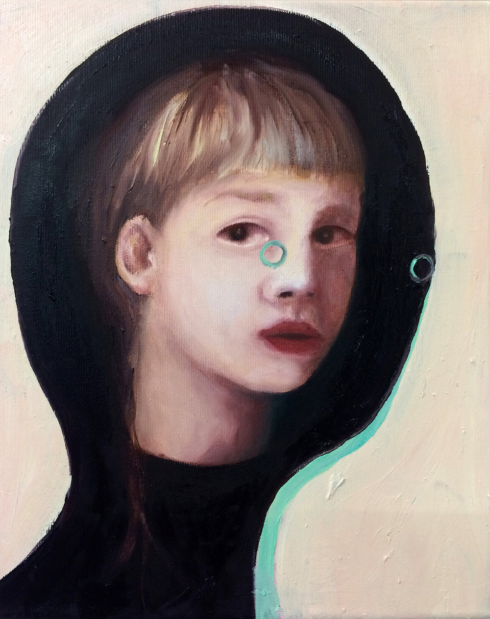 "Emeli Theander, ""Abduction VI"", huile sur toile, 24 x 30 cm, 2016"