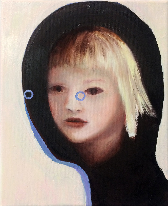 """Emeli Theander, """"Abduction V"""", huile sur toile, 24 x 30 cm, 2016"""