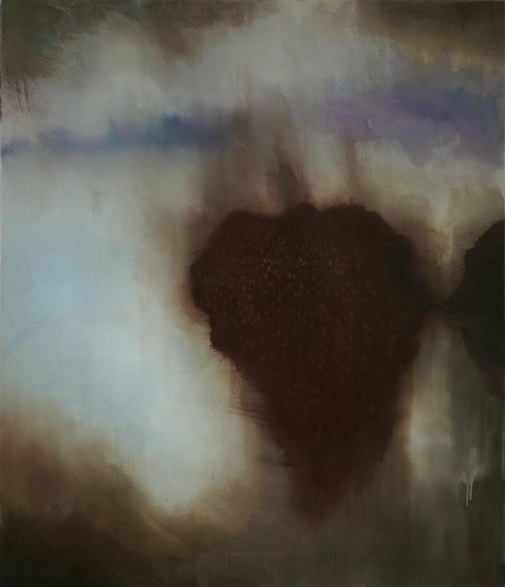 """Guy Oberson, """"Rêveries d'un promeneur solitaire"""", huile sur toile, 120 x 140 cm, 2016"""