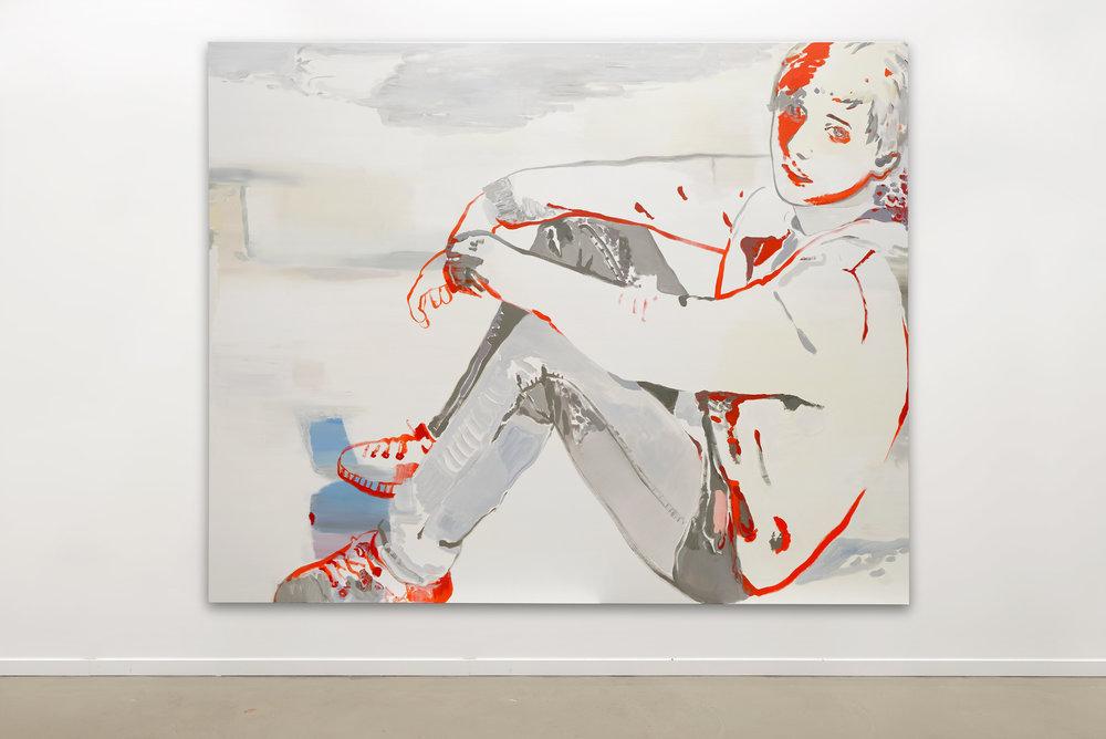 Françoise Pétrovitch, huile sur toile, 300 x 240 cm, 2016