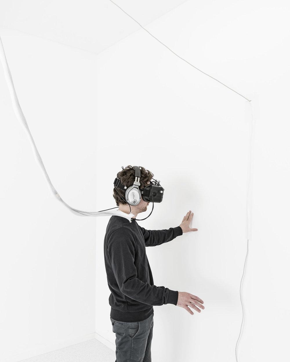 """Matthieu Gafsou, de la série """"Les Hommes-chose"""", en cours."""