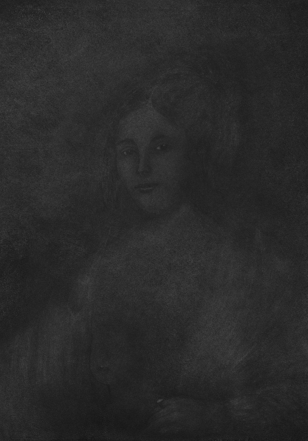 """Jérémie Bennequin, """"La Stérile volupté"""", fusain sur papier, 77 x 57 cm. 2016"""