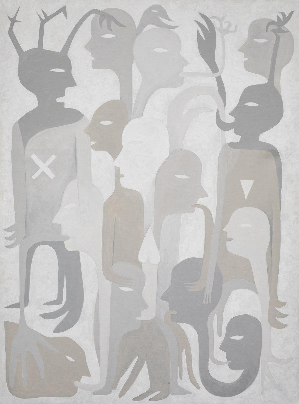 """Augustin Rebetez, """"Sans titre"""", acrylique sur toile, 2017."""