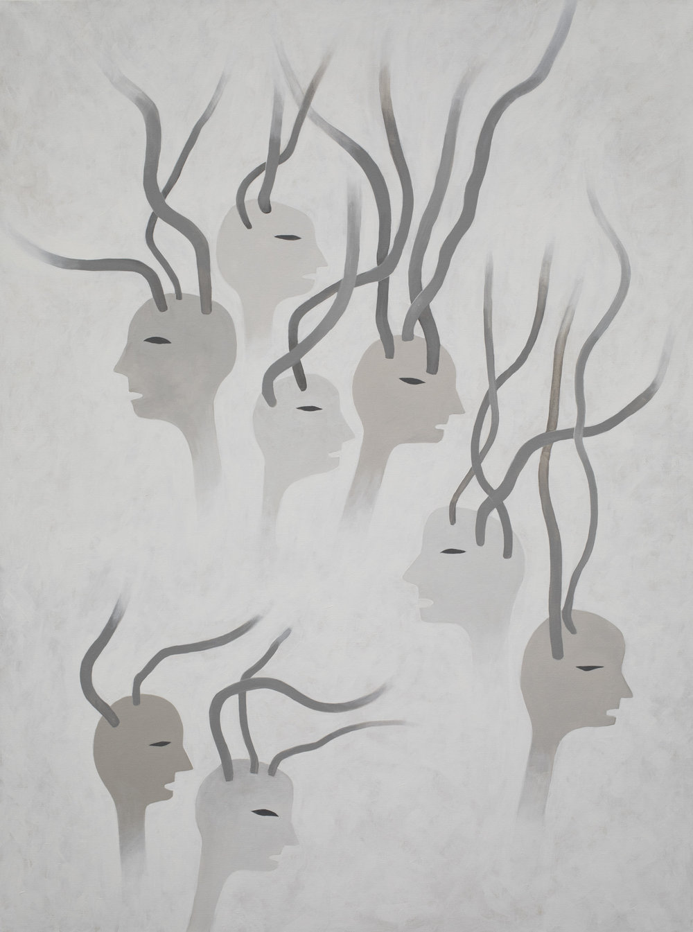 """© Augustin Rebetez, """"Sans titre"""", acrylique sur toile,120x160 cm, 2017. Courtesy Galerie C"""