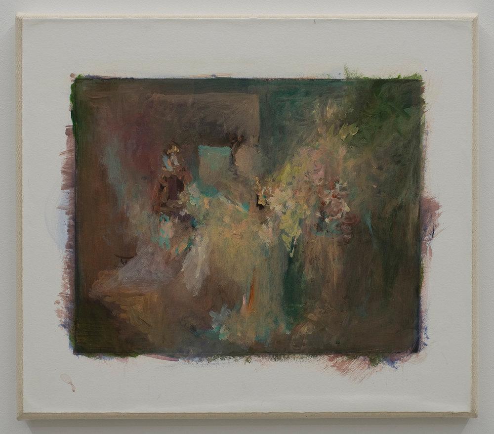 """David Moses, """"Ohne Titel (LW.GM.35.40.0014)"""", d'après """"Le Cabinet du docteur Caligari"""",acrylique et gravure sur toile,2016."""