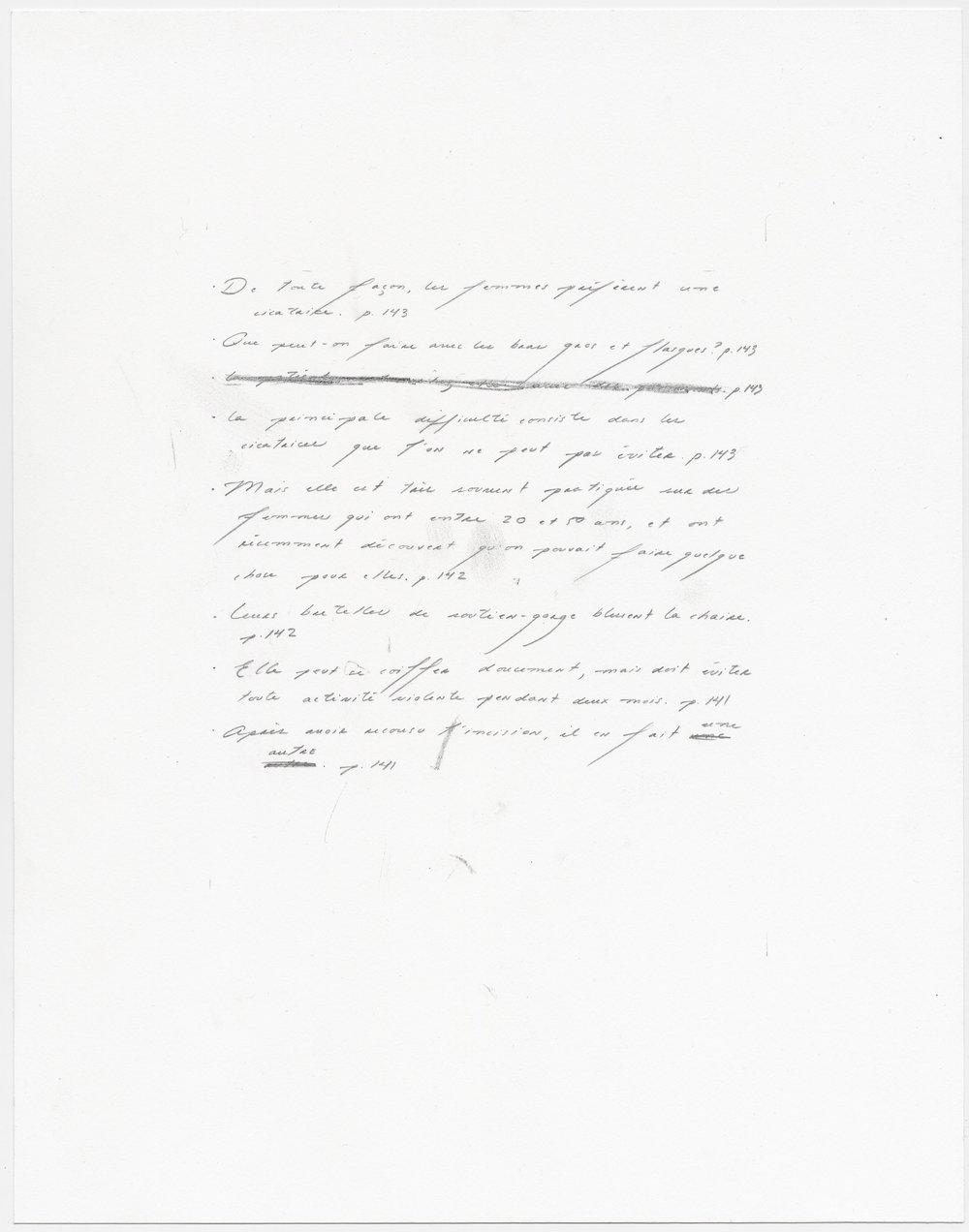 © Sophie Jodoin, %22elle commence ici 17%22, graphite et transfert carbone sur papier Stonehenge : graphite and carbone transfer on Stonehenge paper, 35,5 x 28 cm, 2018. Courtesy Galerie C.jpg