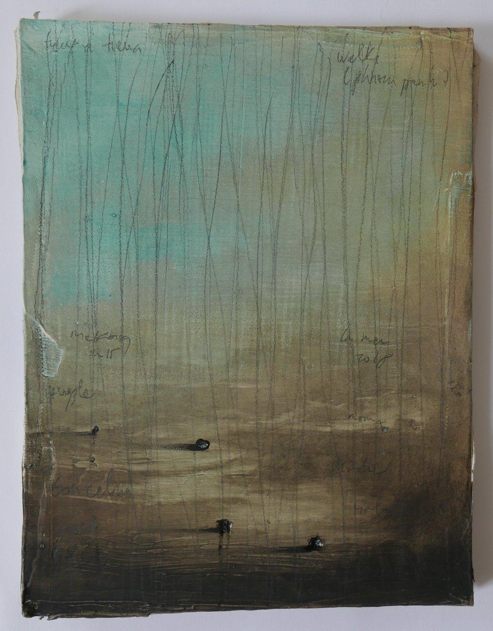 """Jean-Christophe Norman,""""Walks (cardboard)"""", techniques mixtes sur carton, 2018."""