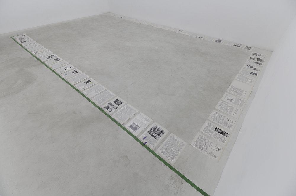 Sophie Jodoin, Vue d'installation pour Art on Paper (travail en cours), studio de l'artiste, Montréal, 2018