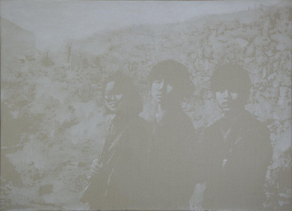 """Luo Mingjun, """"Attendre"""", huile sur toile, 150x110 cm, 2008-2017."""