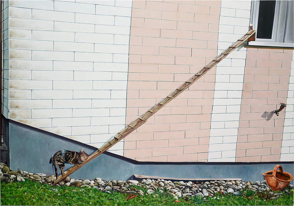 """Léopold Rabus, """"Le malvoyant"""", huile sur toile, 300x230 cm, 2018."""