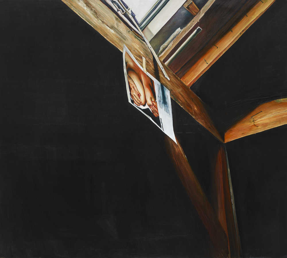 Léopold Rabus, « Muttermilch », huile sur bois, 150×135 cm, 2016.