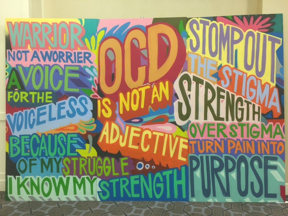 A mural brought to the conference by the Peace of Mind Foundation