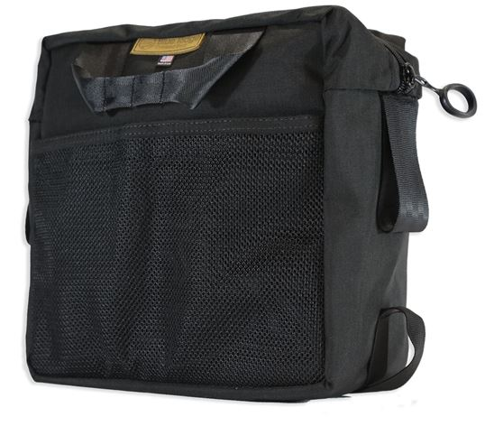 A large mesh pocket on the back is great for storing things like gear manuals or maps.
