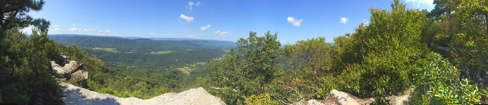 Panoramic shot from the summit of Macafee knob